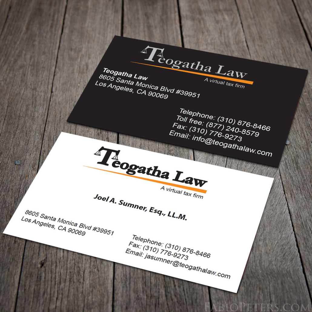 Teogatha Law Business Card