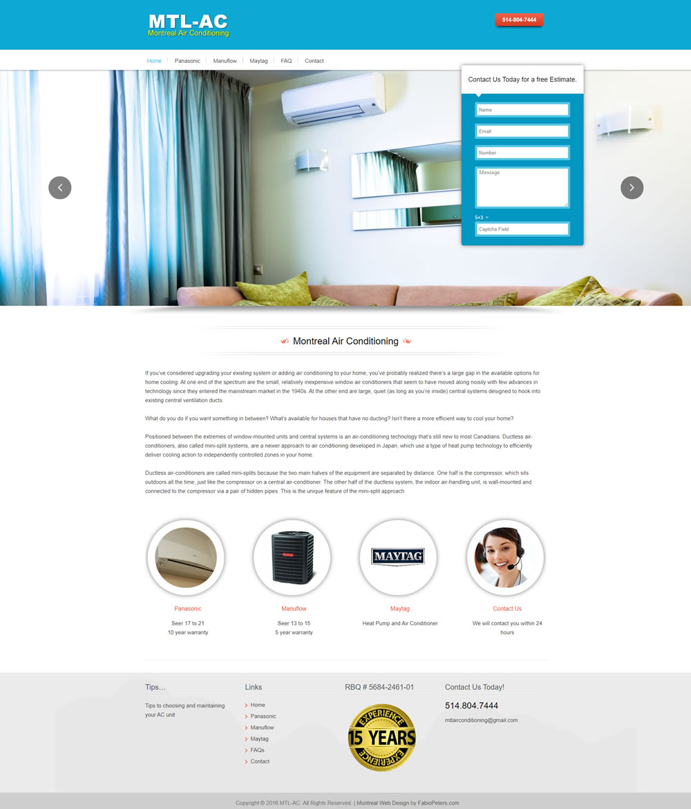 Air conditioning Web Design